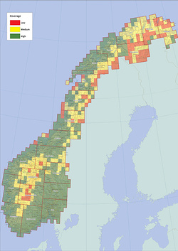 Geography Norway - Norway elevation map